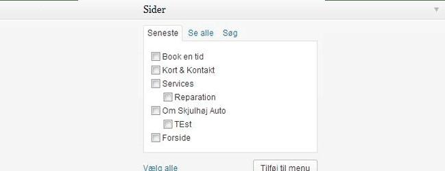 WordPress guide københavn, screenshot af wp sider