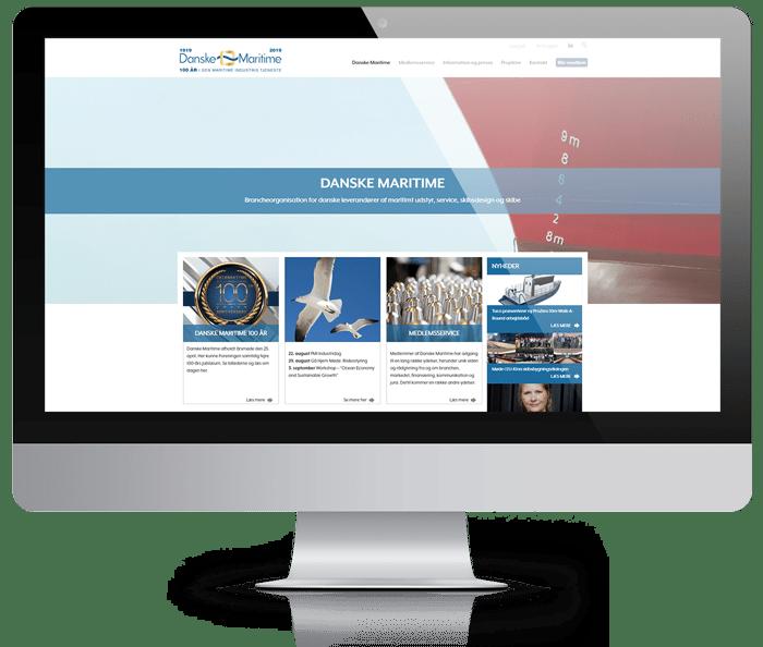 webbureau københavn, hjemmeside på desktop skærm